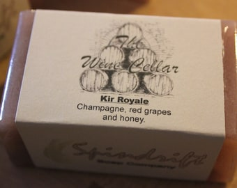 "Wine Soap ""The Wine Cellar""  Kir Royale - Champagne with honey and red grapes."