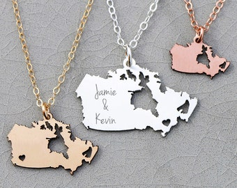 Canada Necklace Country Gift • Canada Jewelry • Charm Canada Pendant • Sterling Silver Pendant Location Jewelry State Gift Ideas