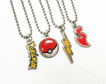 Authentic Pokemon party favors necklaces - Pokeball ball chain necklace - 5+ necklaces are 2.99 each