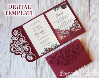 Wedding invitation template Etsy