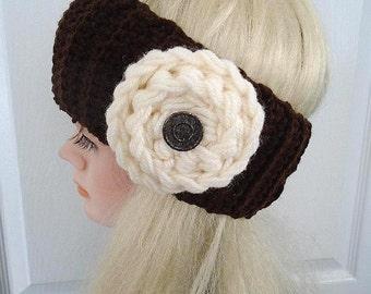 CROCHET PATTERN, Easiest Crochet Headband, Easy Crochet Cowl, Looks like knitting, Easy Crochet Rose, Age 5 to Adult, #781