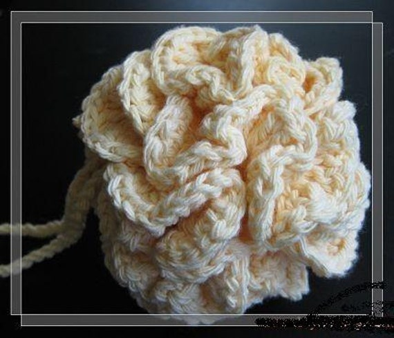 Puff Pattern Corcheted Bath Puff Pattern Crocheted Cotton