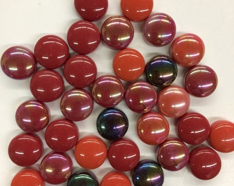 "Scarlet Mix 1/2"" Optic Drops-100g//Marble gems// discount mosaic tile"