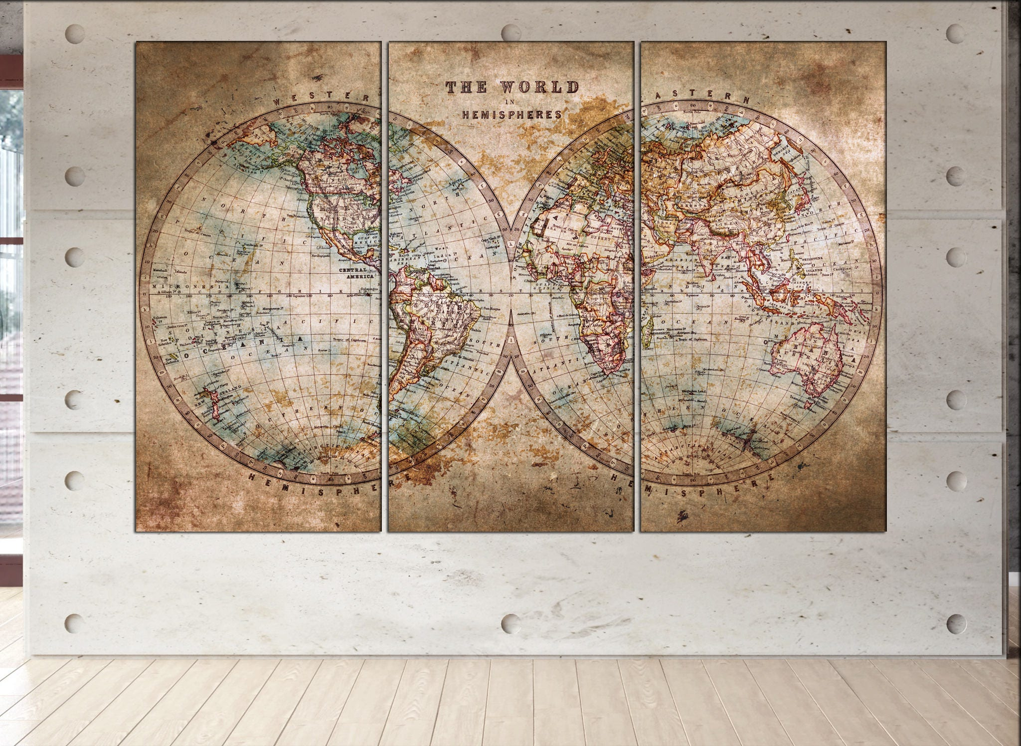 Vintage world map canvas print vintage map canvas old world map vintage world map canvas print vintage map canvas old world map historic map antique style world map art work artwork office decor gumiabroncs Image collections