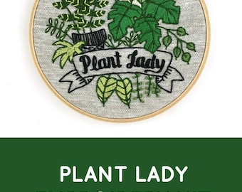 Plant Lady Embroidery Kit