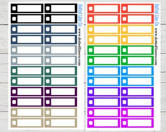 Neutral and Bold Single Box Checklist Planner Stickers