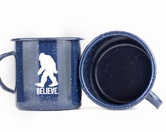 Bigfoot Enamel Mug... amazing enamel mug gift idea.