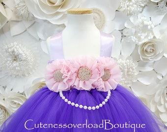 Regency Purple Tutu Dress-Regency Purple Flower Girl Tutu-Regency Purple Tutu Dress-Regency Purple Wedding Tutu Dress.