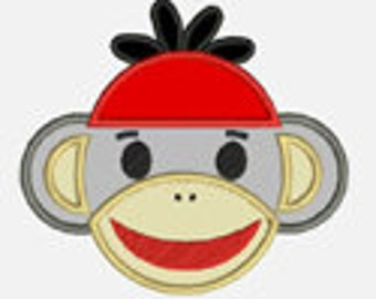 Monkey Boy...Embroidery Applique Design...Three sizes for multiple hoops...Item1143...INSTANT DOWNLOAD