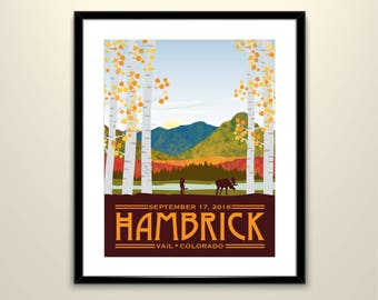 Mt of the Holy Cross, Colorado Wedding Landscape Vintage Travel Poster /Can personalize with Names and date (frame not included)SM-1