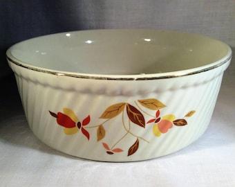 Superior Hall Quality Autumn Leaf Souffle Casserole Dish- Mary Dunbar - Jewel Homemakers Institute - Dinnerware - 1930's - Vintage Kitchen