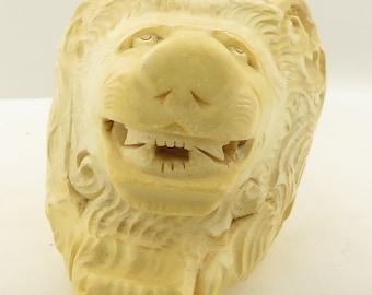 Antique Meerschaum Pipe Detailed Lion's Head, Mouth Piece.