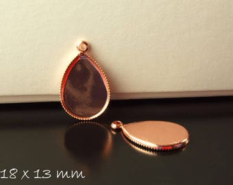 Pendant with version drops 18 mm x 13 mm rose gold