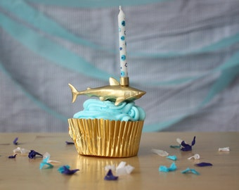 Gold Sea Creature Birthday Candle Holder- YOU CHOOSE!