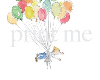 High flying Imagination Birthday Card