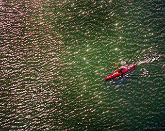 Color Photo Snake River Kayak, Size 5x7 inches, Color Photo, Nature Art