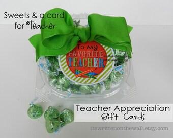 Teacher Appreciation Gift Tags / To My Favorite Teacher / Gift Ideas for Teacher Appreciation / Gift  Tags / Thanks Teacher