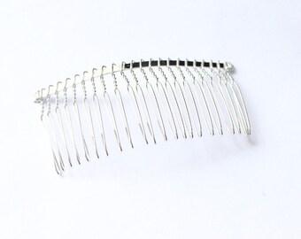 Large Metal Bridal Wedding Birdcage Veil Hair Comb Clip