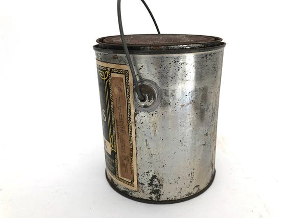 Paint Can Vintage Masurys Liquid Colors Metal