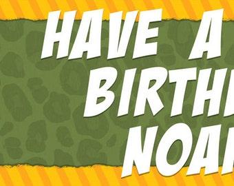 Wild Kratts Birthday Banner or Backdrop