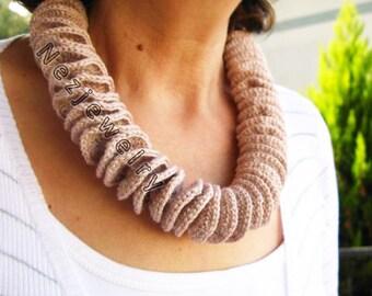 PDF Tutorial  Crochet Spiral Necklace Pattern