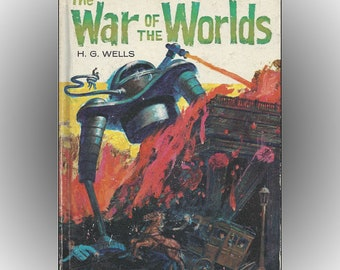 The War of the Worlds by H.G. Wells 1964 Whitman Edition