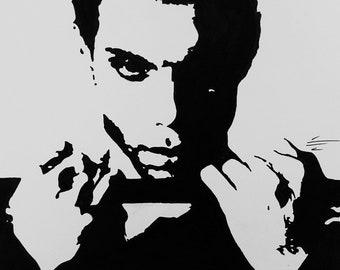 Original Pen & ink drawing of Prince