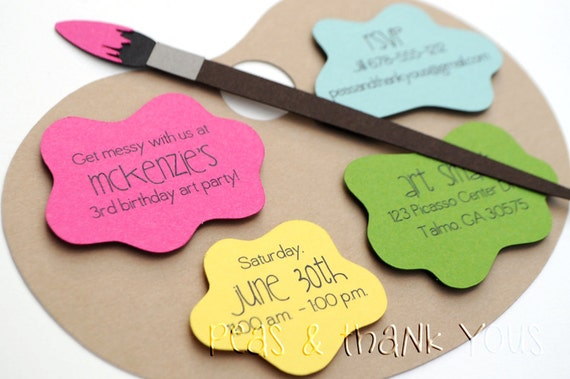 Signature Artists Palette Birthday Invitations A2 Die
