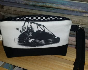 Quarter Midget Wristlet,  Wallet with Strap