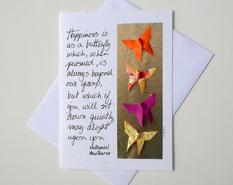 Just Because Greeting Cards,Friendship Greeting Cards,Encouraging Greeting Cards,Paper Art Cards,Origami Greeting Card,Art Greeting Cards