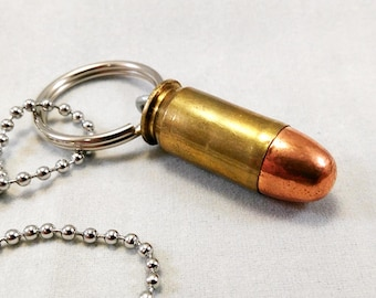 45 Cal Bullet Necklace Key Chain