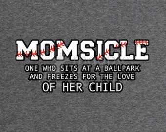 Baseball Mom SVG Momsicle Ballpark Softball Field Shirt HTV Cut File Vinyl Decals Cricut Silhouette Ball Park T-Ball
