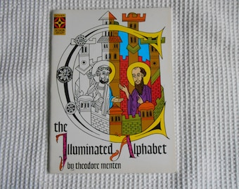 The Illuminated Alphabet  Vintage Book  Beautifully Illustrated Paper Back  Book