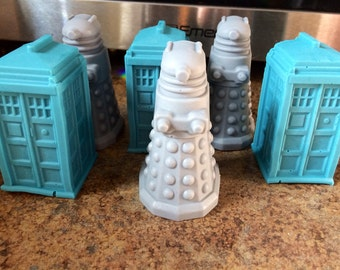 Dr. Who Tardis and Daleks Guest Soaps Set