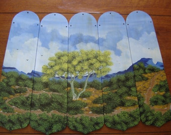 Original Acrylic handpainted Ceiling Fan blades