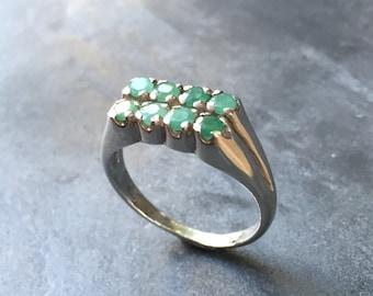 Emerald Rings, Natural Emerald, 1 Carat Emerald Ring, Real Emerald, Green Emerald Ring, Birthstone Ring, May Birthstone, Green Birthstone