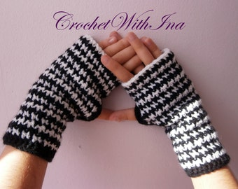 READY TO SHIP/Lady's fingerless gloves/Office or driving gloves/Stylish fingerless/Handknit armwarmers/texting gloves
