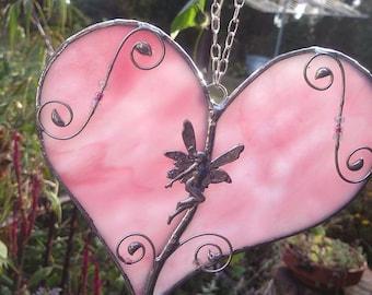 Fairy Nymph  Heart Sun Catcher Window Art