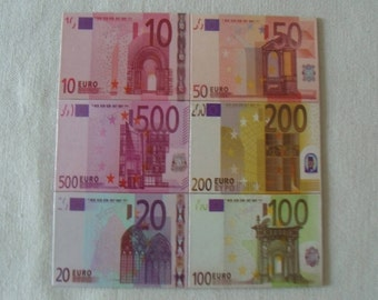 "Set of 6 magnets ""banknotes"" Euro / home decor - Home decor"