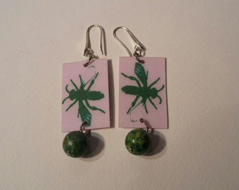 Pendant earrings Bees (a bee or 2 two-coloured bees) and the 3 bees of Elba Island