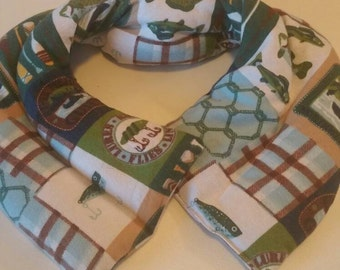 Reusable microwaveable heat/ice neck wrap, handmade heating pad, valentines gift,  shoulder, herbal pack, rice pack