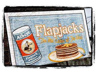 Albers Flapjack Flour Painted Sign on Building - Americana Art Greeting Card
