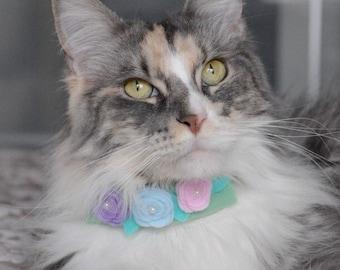 Felt Neckpiece/bow tie/flowers/cat/Dog/collar, baxknits