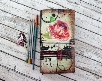 Traveler's Notebook - Designer Cover Plus Inserts - Artists Notebook - Embrace Beautiful Chaos
