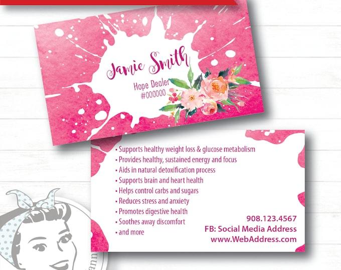 Business Card - Pink Splash, plexus Business Card, New slim, Pink Drink, Pink Drink Update, plexus Swag