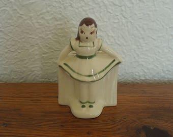 Vintage Rio Hondo California Pottery Planter Girl In Skirt