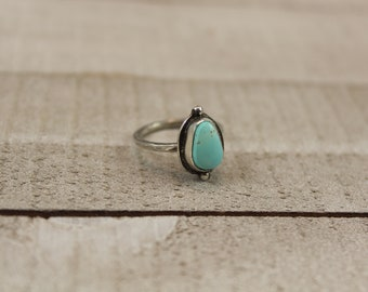 Solitaire turquoise ring size 5