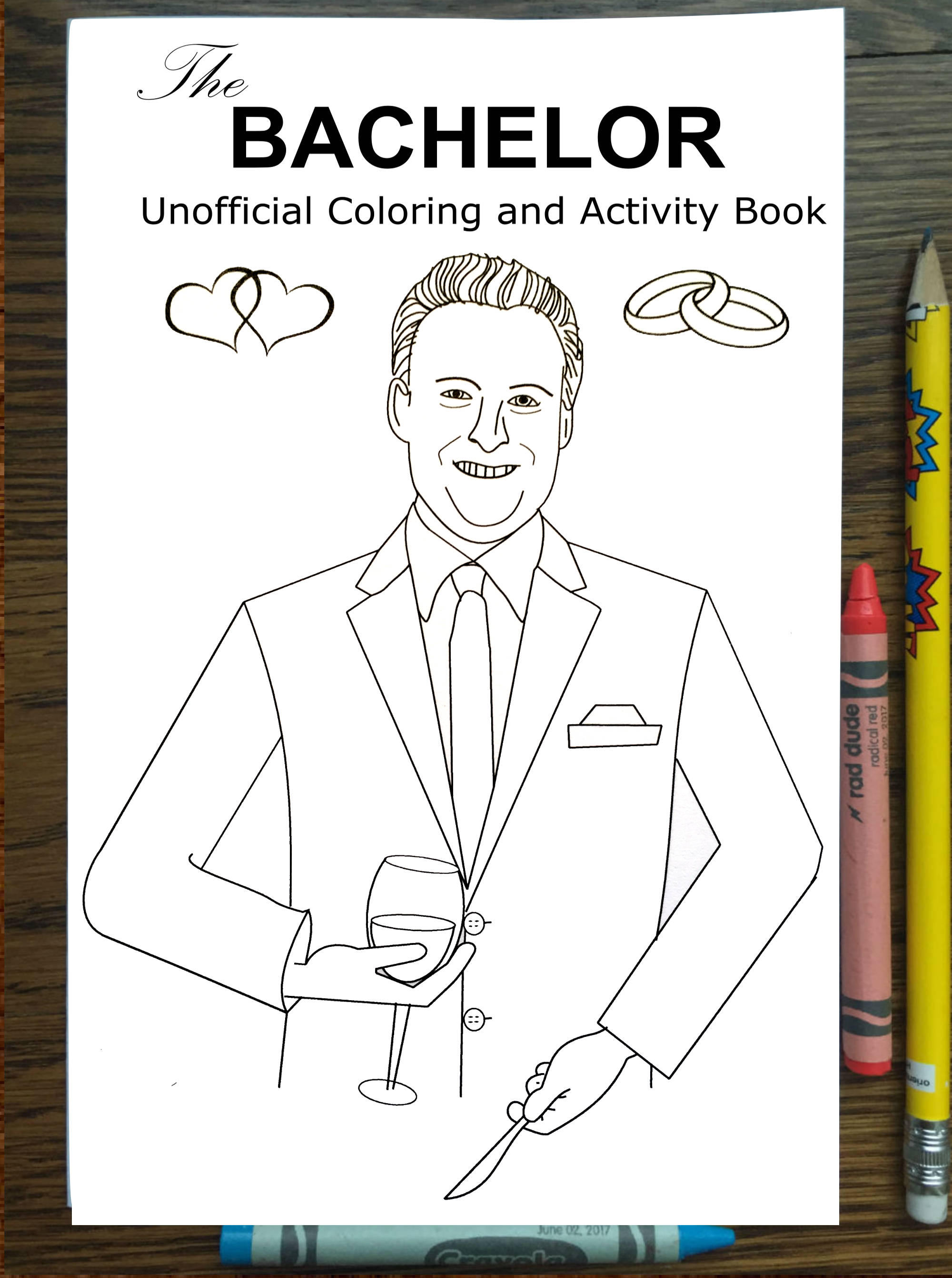 The Bachelor Coloring Book Chris Harrison Arie Becca Lauren