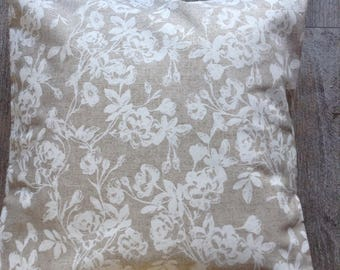 White coocouning beige Cushion cover