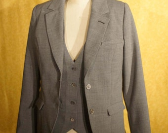 Classic Hand-Tailored Suits for Women----In Heather Grey